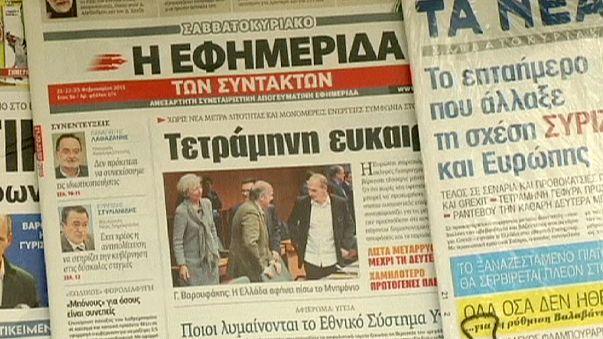 """""""Zeit zum Aufatmen"""" - Gemischte Gefühle in Griechenland nach Einigung im Schuldenstreit"""