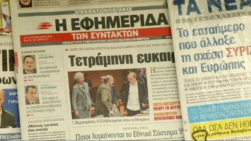 """Grécia adia """"fim da Troika"""" por quatro meses"""