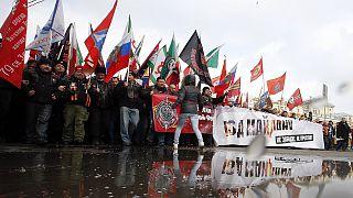 Tízezrek vettek részt a Majdan-ellenes tüntetésen Moszkvában