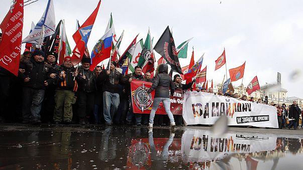 Μόσχα: Διαδήλωση για τον ένα χρόνο από αιματηρά επεισόδια στην πλατεία Ανεξαρτησίας