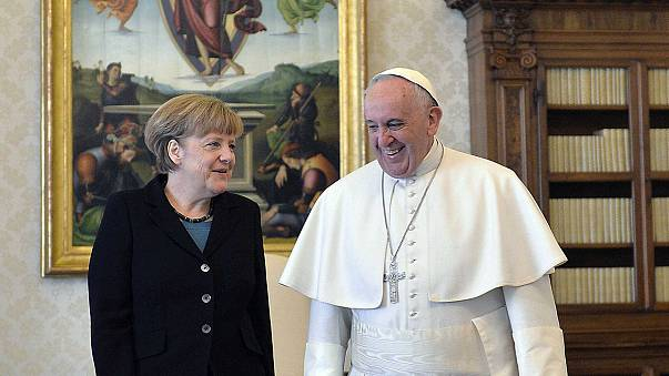 Papa Bergoglio e Angela Merkel: incontro in Vaticano