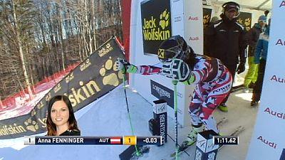 Anna Fenninger faz a festa em casa de Tina Maze, em Saalbach mandam os austríacos