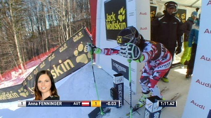 التزلج الألبي: فوز فيننغر في المتعرج العملاق بماريبور