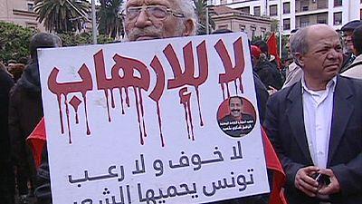 Tunisians protest against terrorism in Tunis