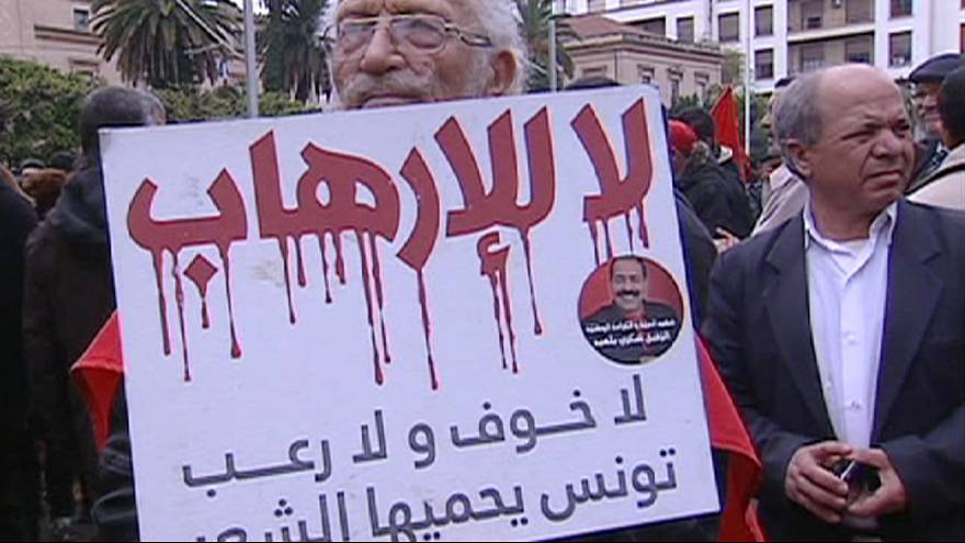 Túnez se manifiesta contra el terrorismo islamista