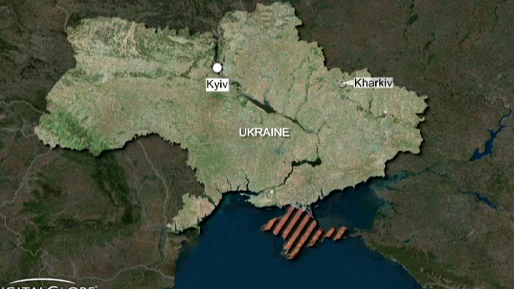 Ukraine peace march hit by deadly blast in Kharkiv