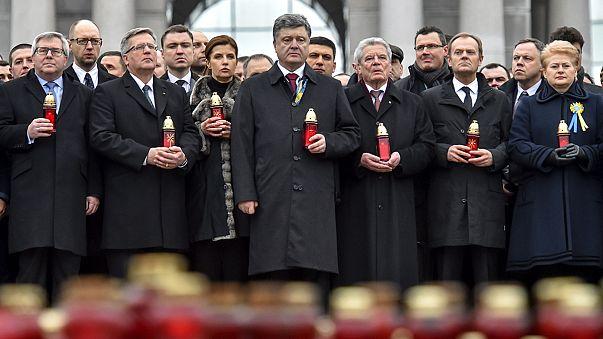 In Kiew gedenken Tausende der Opfer vom Maidan-Aufstand