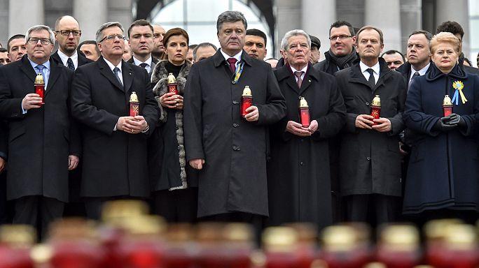 Kelet-európai politikusok is emlékeztek Kijevben az egy évvel ezelőtti majdani vérengzésre
