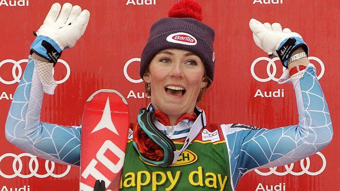 التزلج الألبي: ميكائيلا شيفرين تقترب من التتويج وتينا مازي خارج المنافسة