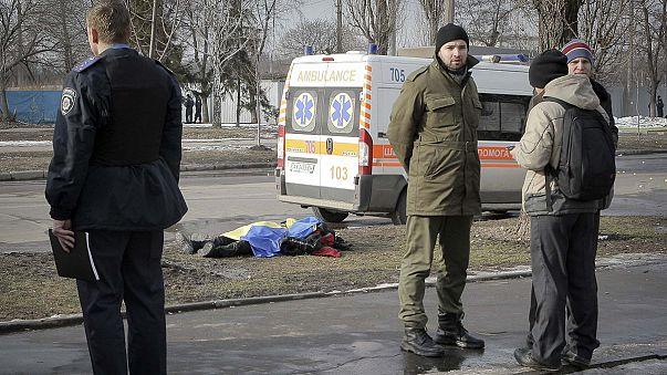 Dos muertos al explotar una bomba en una manifestación en Ucrania