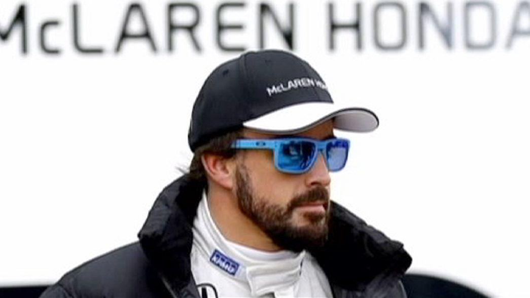 Fernando Alonso apanha susto em Barcelona