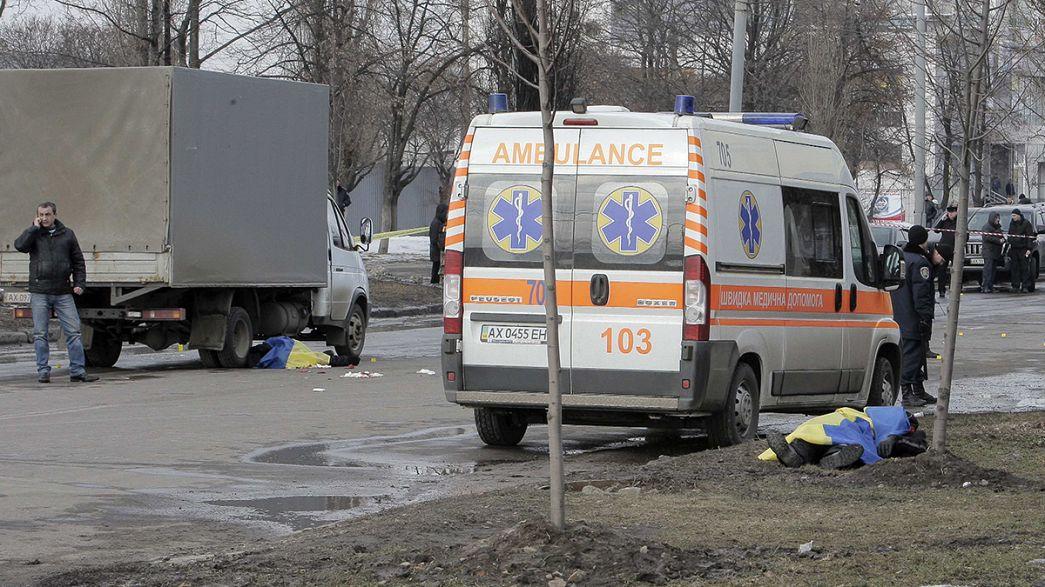 Ucraina. Attentato alla manifestazione per l'anniversario di Maidan