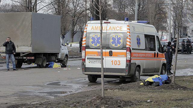 Harkiv'de mitinge bombalı saldırı