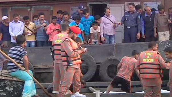 At least 70 dead as overcrowded river ferry capsizes in Bangladesh