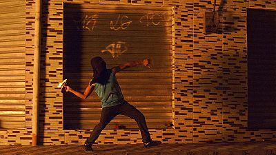 Protesta en Rio de Janeiro contra la violencia en Mare Favela