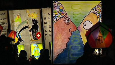 Carnival night procession illuminates the streets of Basel – nocomment