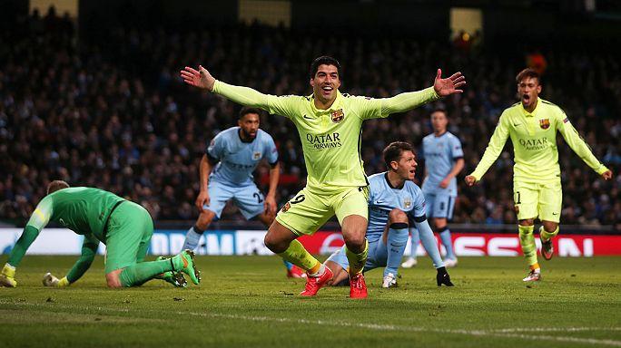 Champions League: Suarez on target as Barca down Manchester City