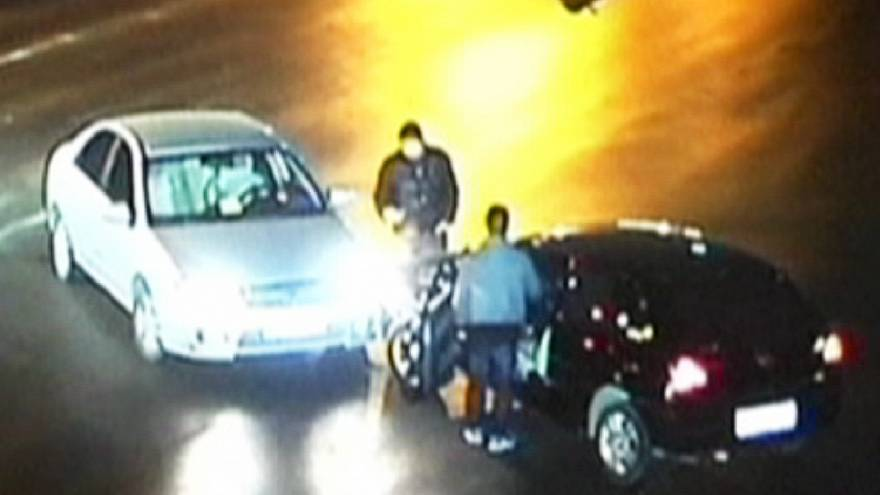 CCTV footage catches drunk driver's multiple crashes in Shanghai