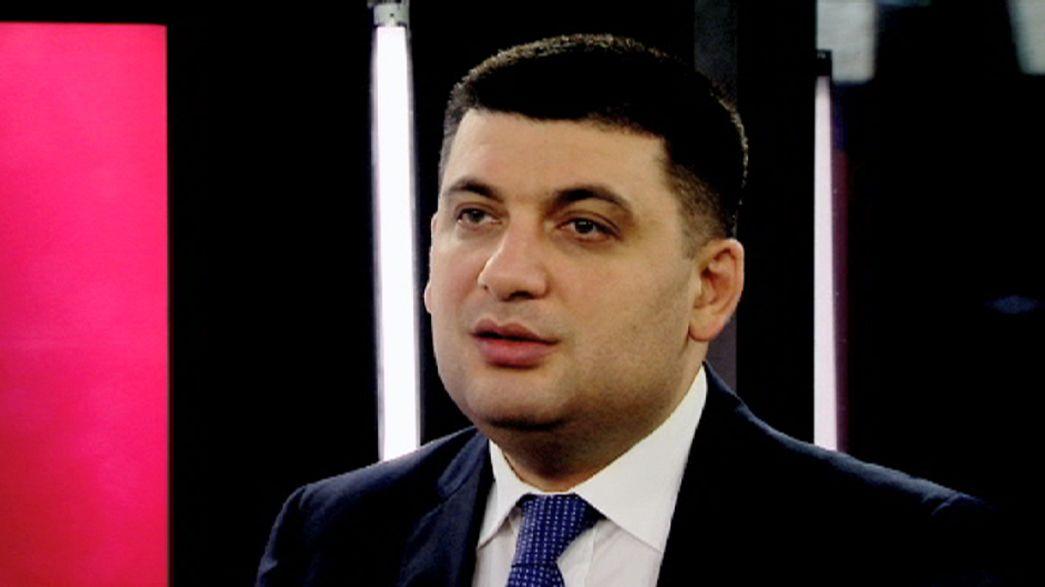 El presidente del Parlamento de Ucrania pide armas de defensa
