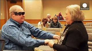 Blind man sees wife for the first time in ten years