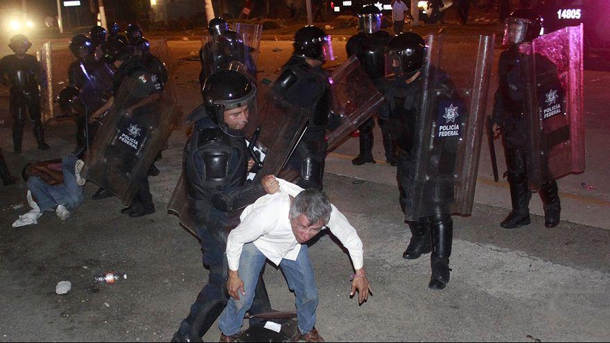 Ausschreitungen bei Lehrer-Demo in Acapulco