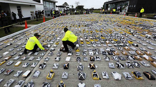 Três toneladas de cocaína apreendidas na Colômbia