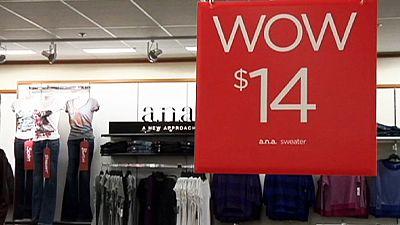 US inflation goes negative