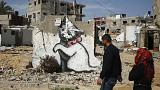 Graffiti-Kunst von Banksy in Gaza