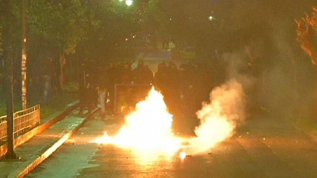 احتجاجات ضد الحكومة اليونانية تعقبها صدامات مع الشرطة