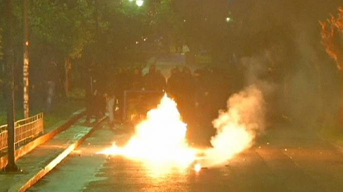 Riots in Athens as left-wing supporters vent their anger at newly-elected premier