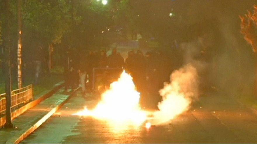 Kundgebung und Randale gegen neue griechische Regierung