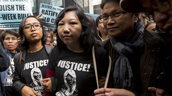 Hong Kong'da hizmetçiler ayaklandı