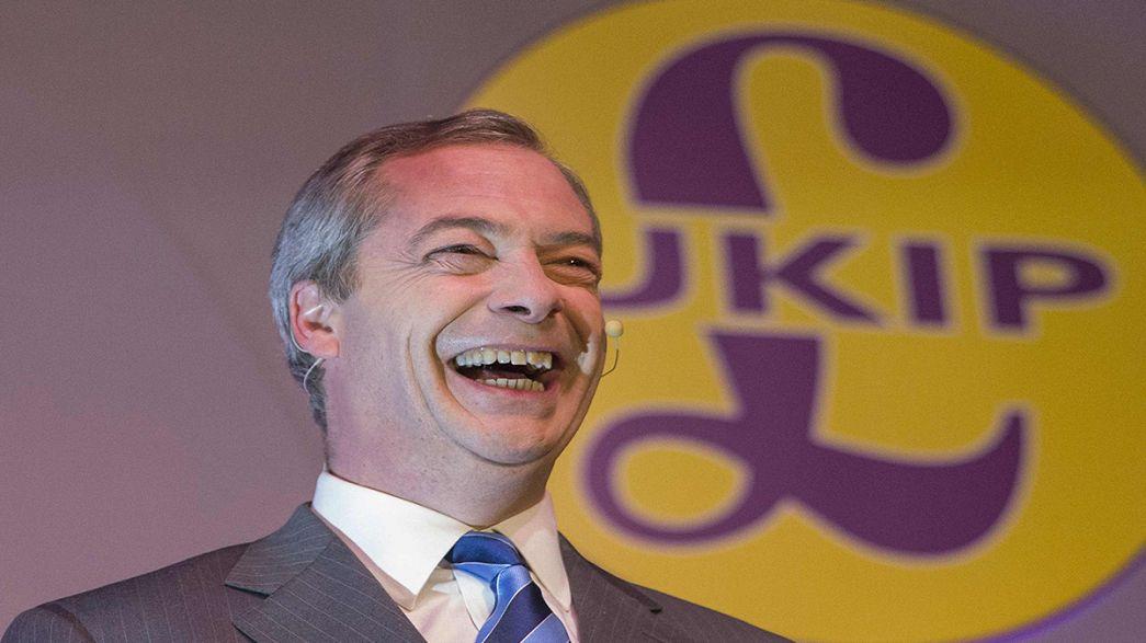 """Reino Unido: UKIP """"rouba"""" votos aos conservadores e aos trabalhistas"""