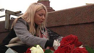 Ruslar Nemtzov'un vurulduğu yere akın etti