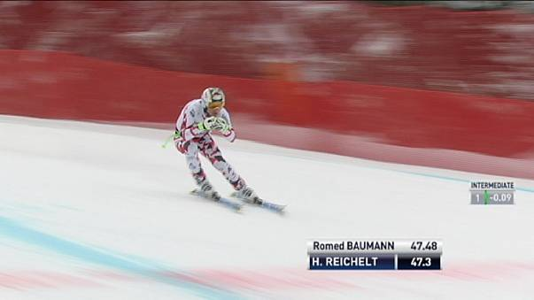 Reichelt leads Austrian clean sweep in Germany