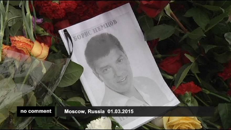 Москвичи отдают дань памяти Борису Немцову