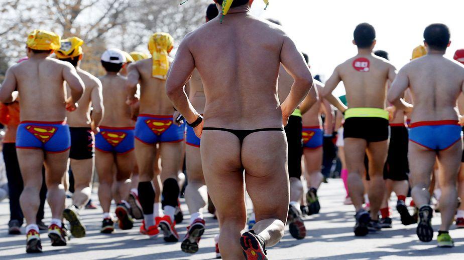 Risqué runners' marathon effort to promote eco-living
