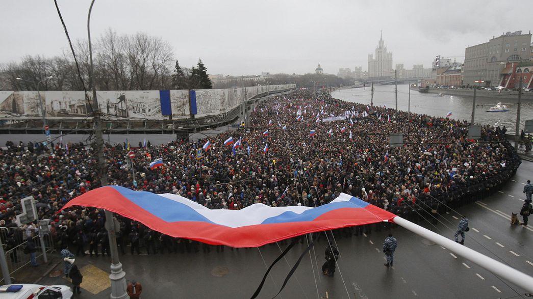 Marée humaine à Moscou pour rendre hommage à Boris Nemtsov
