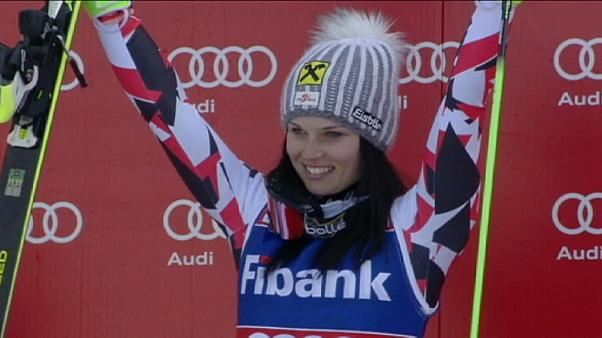 Fenninger does the double as Hirscher stenmarks his rivals' cards