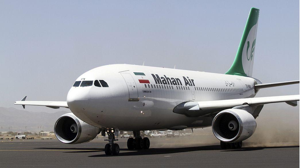 Aterriza en Saná el primer avión comercial iraní