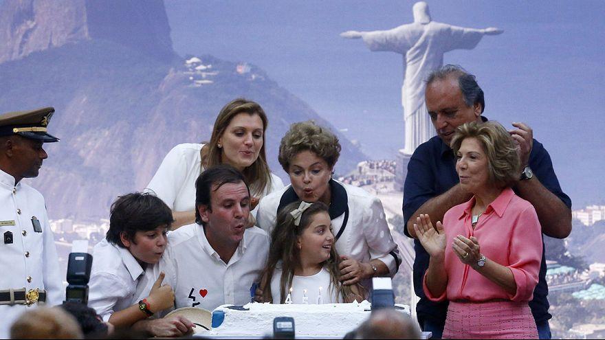 Brazil's president inaugurates new Rio road tunnel
