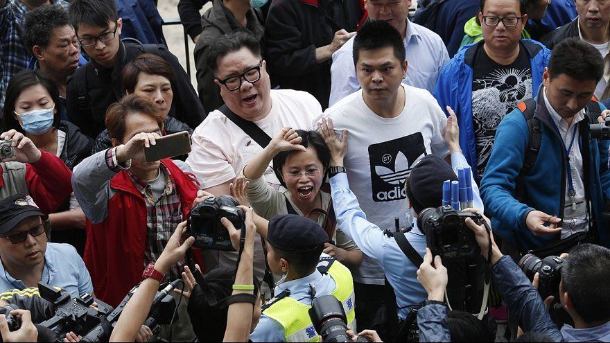 اعتقل ثلاثة اشخاص على الأقل في هونغ كونغ ضد الاحتجاجات في الصين