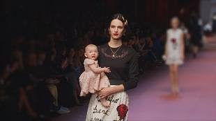 Mum's the word for Dolce and Gabbana at Milan Fashion Week