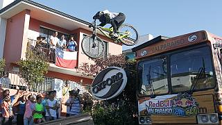 Mountain bike: Εντυπωσιακό θέαμα στο Βαλπαραΐσο