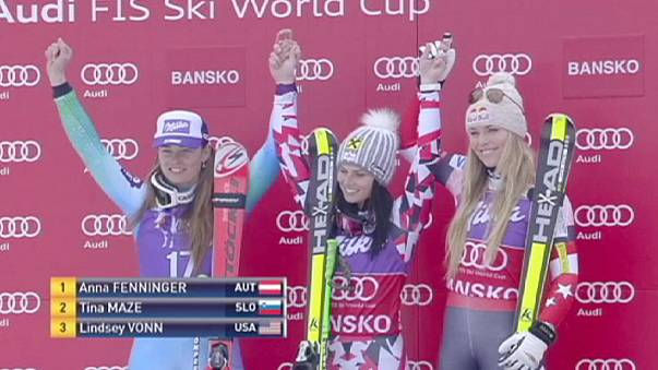 Fenninger turns up the heat with back-to-back wins in Bansko