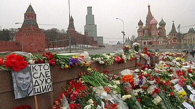 Memorial improvisado para Nemtsov