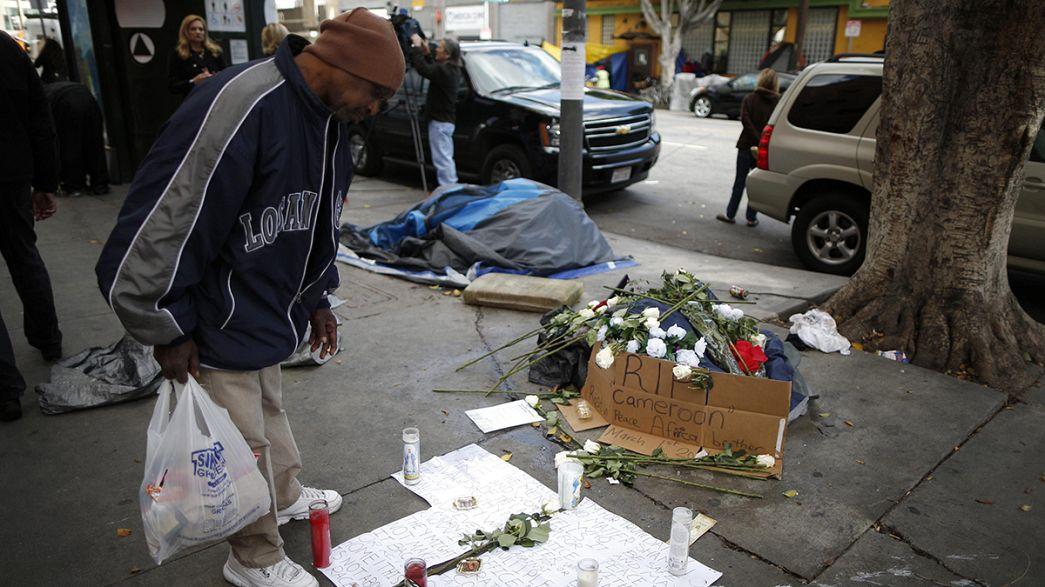 Houve força desnecessária na morte de sem-abrigo em Los Angeles?