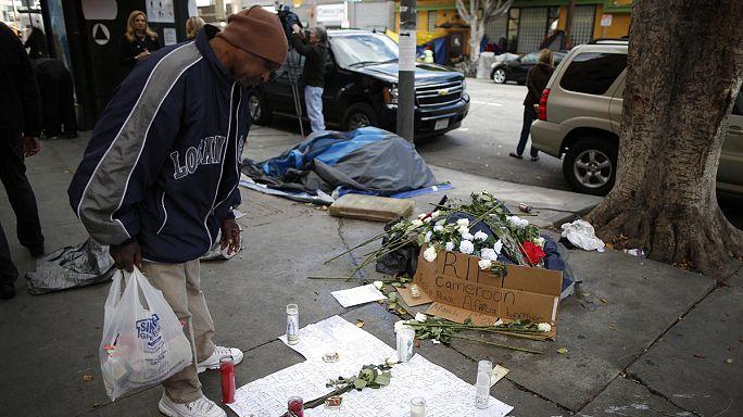 La police de Los Angeles pointée du doigt après la mort d'un sans-abri
