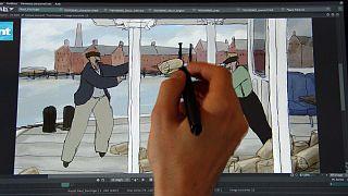 Colorir os velhinhos desenhos animados