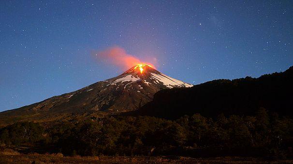 Villarica volcano eruption